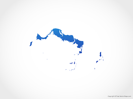 Free Vector Map of Turks and Caicos - Blue