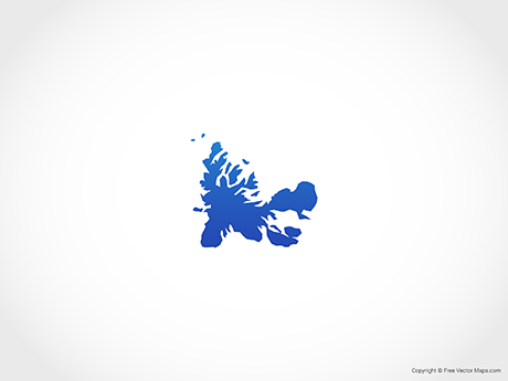 Free Vector Map of French Southern and Antarctic Lands
