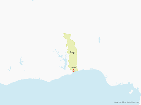Free Vector Map of Togo