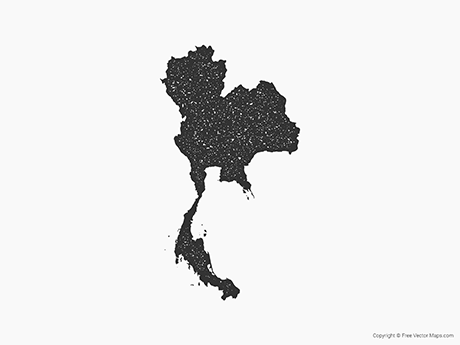 Free Vector Map of Thailand - Stamp