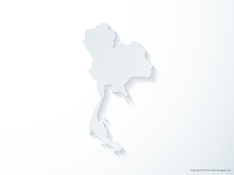 Free Vector Map of Thailand - 3D