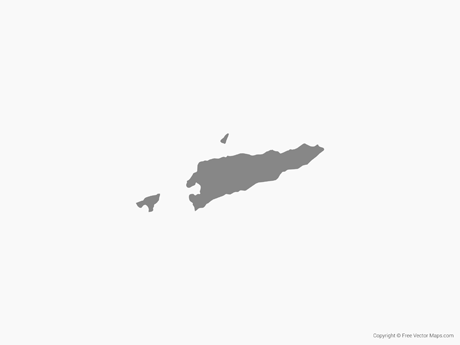 Free Vector Map of East Timor - Single Color