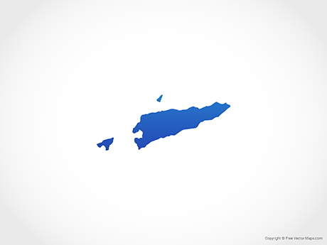 Free Vector Map of East Timor - Blue