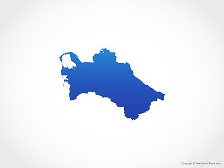 Free Vector Map of Turkmenistan - Blue