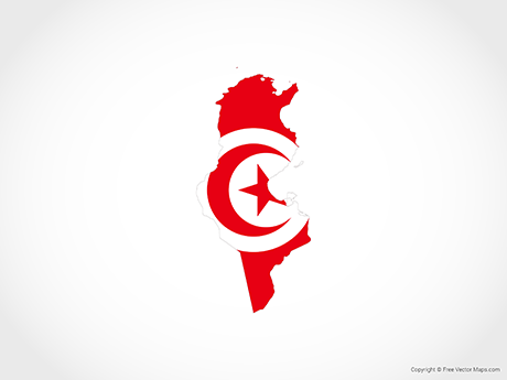 Free Vector Map of Tunisia - Flag