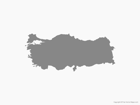 Free Vector Map of Turkey - Single Color