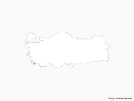 Free Vector Map of Turkey - Outline