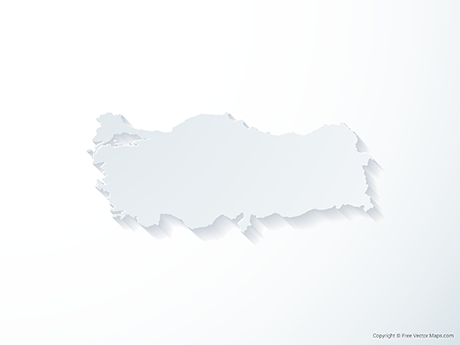 Free Vector Map of Turkey - 3D
