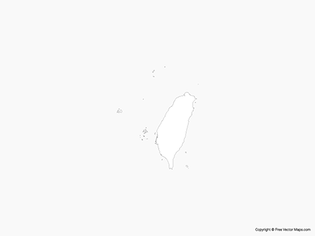 Free Vector Map of Taiwan - Outline