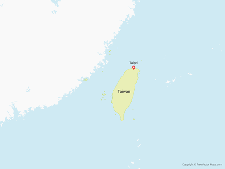 Free Vector Map of Taiwan