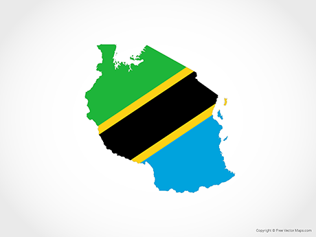 Free Vector Map of Tanzania - Flag