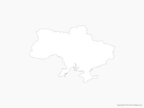 Free Vector Map of Ukraine - Outline