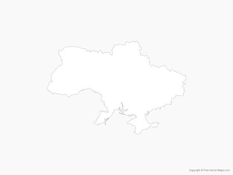Free Vector Map of Ukraine - Outline