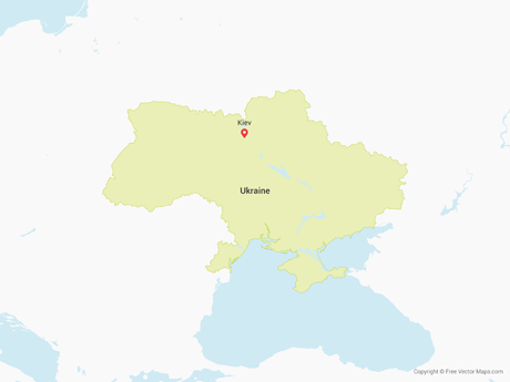 Free Vector Map of Ukraine