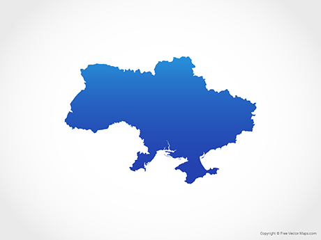 Free Vector Map of Ukraine - Blue