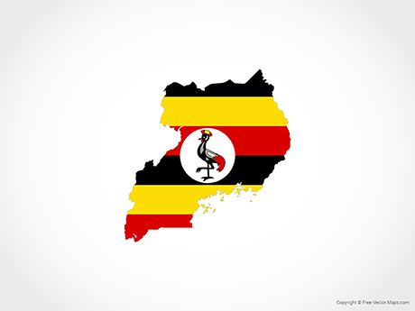 Free Vector Map of Uganda - Flag