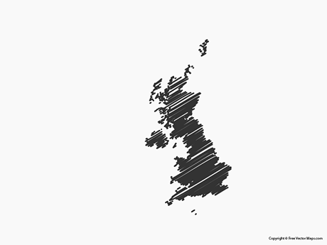 Free Vector Map of United Kingdom - Sketch