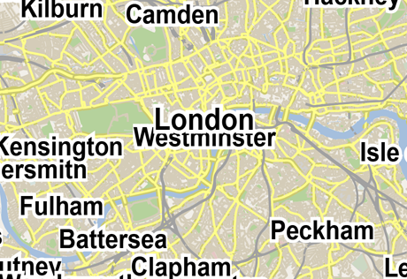 Vector Map of London