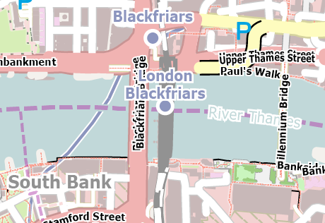 Vector Map of London - Downtown