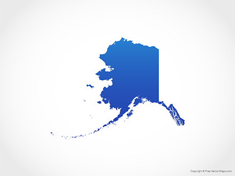 Free Vector Map of Alaska - Blue