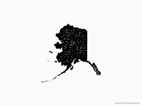 Free Vector Map of Alaska - Stamp
