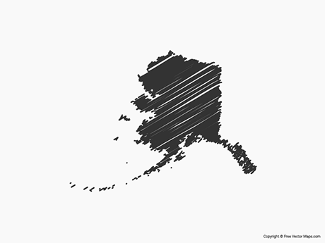 Free Vector Map of Alaska - Sketch