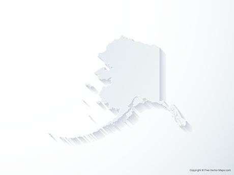 Free Vector Map of Alaska - 3D