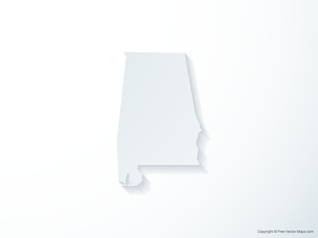 Free Vector Map of Alabama - 3D