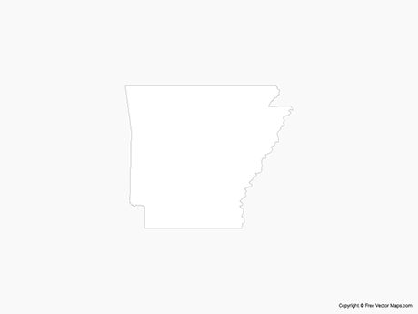 Map of Arkansas - Outline