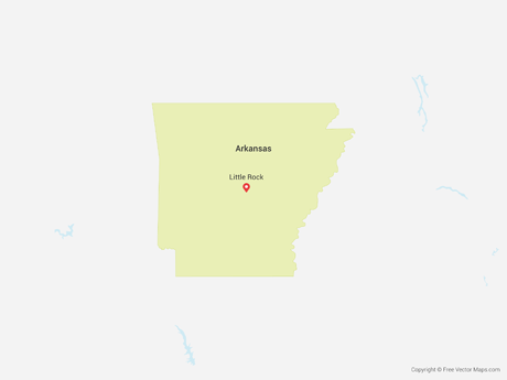Free Vector Map of Arkansas