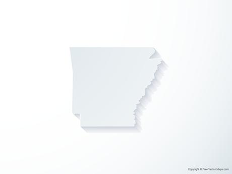 Free Vector Map of Arkansas - 3D
