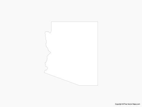 Map of Arizona - Outline