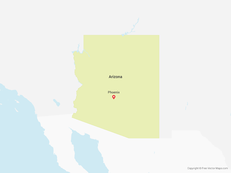Free Vector Map of Arizona