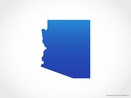 Free Vector Map of Arizona - Blue