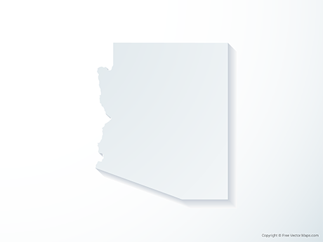 Free Vector Map of Arizona - 3D