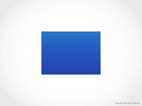 Map of Colorado - Blue