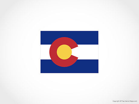 Free Vector Map of Colorado - Flag