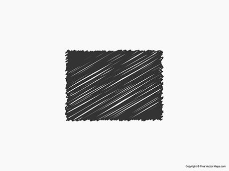 Free Vector Map of Colorado - Sketch