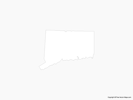 Map of Connecticut - Outline