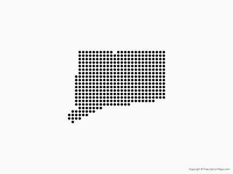 Free Vector Map of Connecticut - Dots