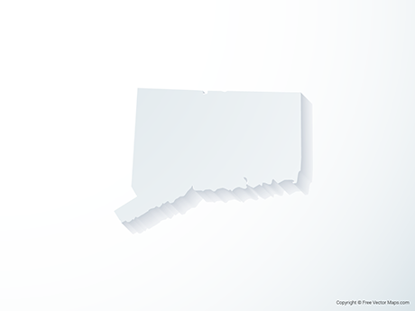 Free Vector Map of Connecticut - 3D