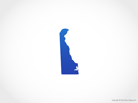 Free Vector Map of Delaware - Blue
