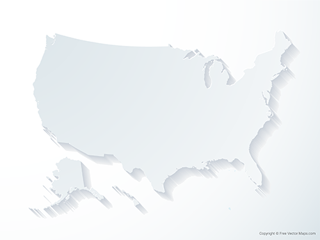 Free Vector Map of United States of America - 3D