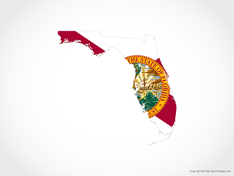 Map of Florida - Flag
