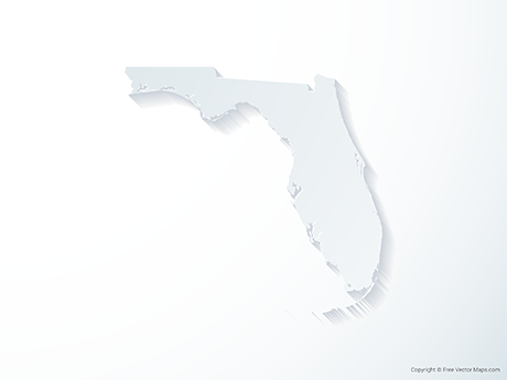 Free Vector Map of Florida - 3D