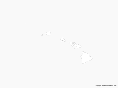 Free Vector Map of Hawaii - Outline