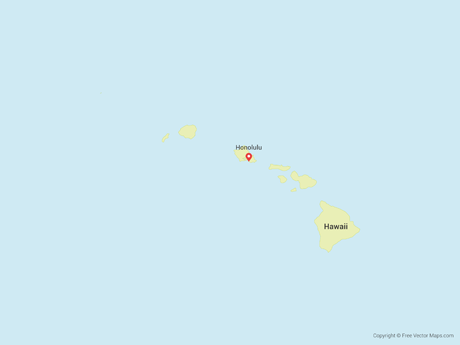 Vector Map Of Hawaii Free Vector Maps - Hawaii-on-a-us-map