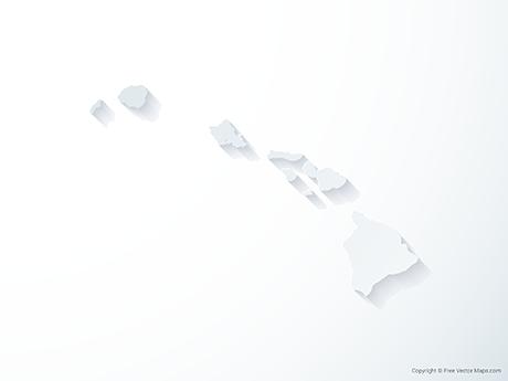 Free Vector Map of Hawaii - 3D