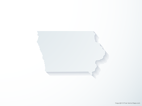Free Vector Map of Iowa - 3D
