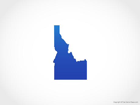 Free Vector Map of Idaho - Blue
